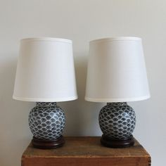 pair of vintage asian ginger jar lamps with new shades - Ginger Jar Lamps