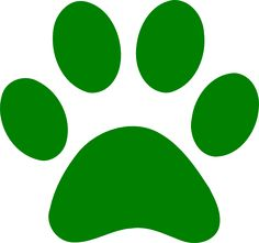 Green Paw Print clip art - vector clip art online, royalty free ... - ClipArt Best - ClipArt Best