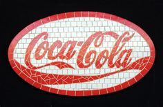 mosaic reindeer | ... - Restaurants & Commercial - Wall Decor - Coca Cola sign mosaic