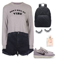 """""""Don't kill my vibe"""" by chloeboo1553 on Polyvore featuring One Teaspoon, Topshop, NIKE and Chanel"""