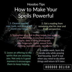 Hoodoo - How To Make Your Spells Powerful Witchcraft Spell Books, Wiccan Spell Book, Wiccan Witch, Witch Spells Real, White Witch Spells, Real Witches, Witches Brew, Spells For Beginners, Witchcraft For Beginners