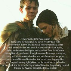 There aren't too many Narnia headcanons that I really like, but this is one of them. Narnia 3, Narnia Cast, Narnia Movies, Edmund Pevensie, Lucy Pevensie, Brother And Sister Relationship, Brother Sister, Tolkien, Georgie Henley