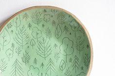 extra large plate. stoneware platter. round. pastel by karoArt, €55.00