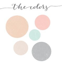 PERFECT! love colors. gray, cream, peach, blush, NAVY not mint. Little bit of coral/orange (in the flowers or candle holder colors) for your orange napkins=)