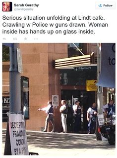 Hostages held in siege in Martin Place.