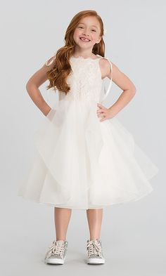 c2601486d01 La Petite by Hayley Paige Lillian Flower Girl Dress. Tea Length ...