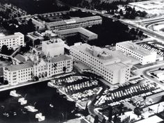 An aerial of CHOC in its early days.