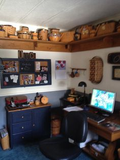 When I'm in my office, I'm surrounded by my Longaberger baskets.