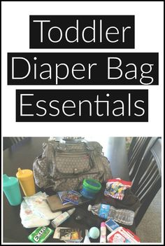 My must-have items to carry in my diaper bag for a toddler and preschooler