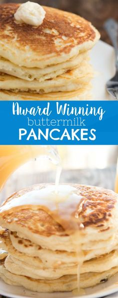The absolute best recipe (after testing hundreds) for buttermilk pancakes. In fact, these are melt in your mouth buttermilk pancakes! via @ohsweetbasil What's For Breakfast, Breakfast Pancakes, Pancakes And Waffles, Breakfast Dishes, Breakfast Recipes, Pancakes With Buttermilk, Butter Milk Pancakes Recipe, Recipe For Pancakes, Diner Pancake Recipe