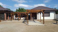 Pergola simpla din lemn, decorativa. Construction, Outdoor Structures, Building