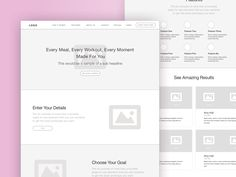 Back To My Body   Landing Page Wireframe by Alyoop