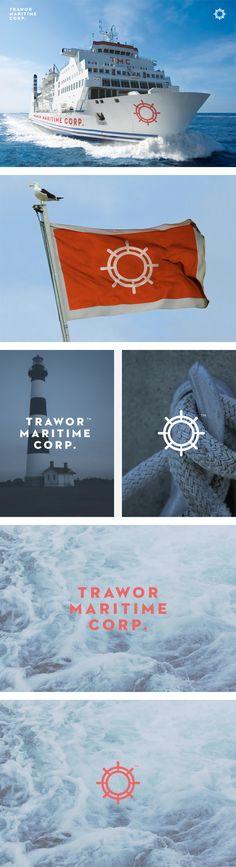 Trawor Maritime Corp. Identity. by Pixelarte, via Behance