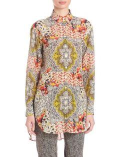 ETRO Floral-Print Blouse. #etro #cloth #blouse
