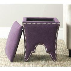 Love this style and color-- Safavieh Deidra Plum Ottoman | Overstock.com Shopping - Great Deals on Safavieh Ottomans