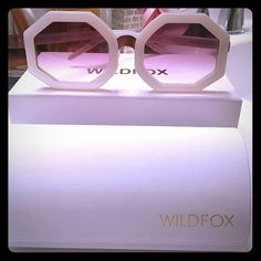 Wildfox NEW sunglasses Glasses, case, box, and scratch resistant cloth. Never worn. Wildfox Accessories Glasses