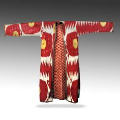 printsandthings:    IKAT CHAPAN OR ROBE / COATUZBEKISTAN, CENTRAL ASIASILK & COTTON