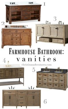The best places to buy rustic farmhouse bathroom vanities and cabinets - for every price point!