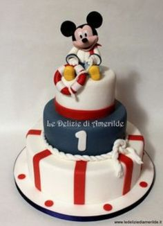 Nautical Mickey Mouse cake