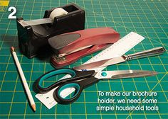 Diy: Make your own brochure holder from a tissue box - EZIPOP cardboard brochure holders; green, sustainable, recyclable, flat pack, ship fl...