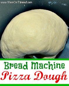 Bread Machine Pizza Dough from MomOnTimeout.com | Easy and delicious! #recipe