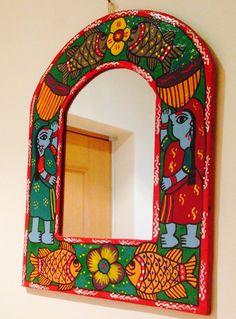 painted mirror madhubani etsy madhubani nepal