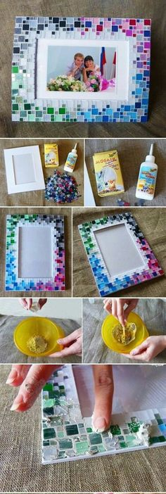 DIY Mosaic is fun to do and can be really impressive for a handmade project. Mosaic has also been pr Mosaic Diy, Mosaic Crafts, Mosaic Projects, Mosaic Glass, Diy Projects, Diy And Crafts Sewing, Crafts To Sell, Diy Crafts, Sell Diy