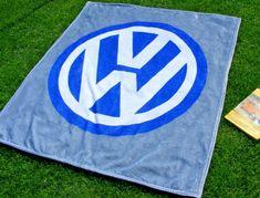 Classic VW Volkswagen Logo Fleece Blanket Golf Transporter Beetle Touareg Passat