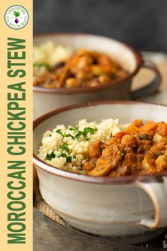This Moroccan Chickpea Stew is a rich with spices, herbs, vegetables and chickpeas. It's perfect for a quick and nourishing meal! Clean Recipes, Whole Food Recipes, Dinner Recipes, Coconut Lentil Curry, Dry Chickpeas, Chickpea Stew, Delicious Vegan Recipes, Lunches And Dinners, Moroccan