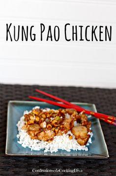 kung pao chicken | www.confessionsofacookingdiva.com