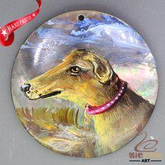Keychain  Hand Painted dog Pendant Black Lip Shell Women's necklace ZL303354 #ZL #Pendant