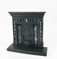 Dolls House Victorian Cast Iron Fireplace Miniature 1:12 Scale Resin Furniture
