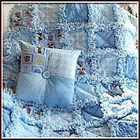 Blue baby boy rag quilt