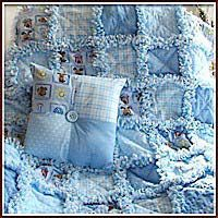 Blue baby boy rag quilt....lots of beautiful baby to preteen stuff.