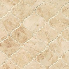 Bring the traditional style and durability of stone to your kitchen or bathroom with these polished tiles, which feature a timeless arabesque mosaic design. Cover large spaces quickly with the large t