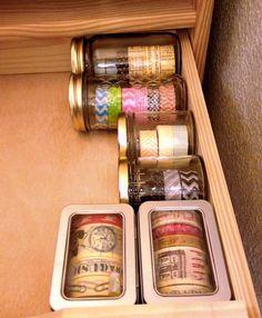 Washi Tape Storage Ideas   Crafting in the Rain