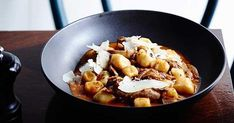 Tipo 00 chef Andreas Papadakis' recipe makes light and fluffy gnocchi to balance out the rich and seasoned duck ragù. How To Cook Gnocchi, How To Cook Pasta, Porcini Mushrooms, Stuffed Mushrooms, Ragu Recipe, Slow Cooked Lamb, Walnut Recipes, Gnocchi Recipes