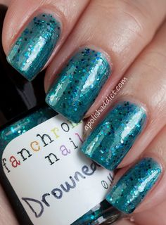 Drowned God Nail Polish teal shimmer by FanchromaticNails