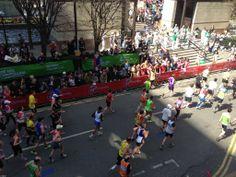 London Marathon day (Runner) @ Balcony. Boisdale of Canary Wharf