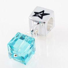 Charm with SWAROVSKI ELEMENTS crystal cube pendant Azure Blue, silver version http://store.lovya.net/letters-from-your-heart-lovya/318-charm-wiszacy-z-krysztalem-swarovski-elements-szescian-w-kolorze-blekit-lazurowy-wersja-zlota.html