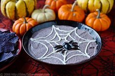 Halloween party snacks: Black bean hummus by FatFree Vegan Kitchen