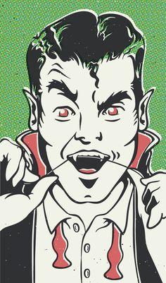 Dracula getting ready for the Monster Mash pop art Horror Books, Horror Comics, Horror Posters, Horror Films, Movie Posters, Arte Horror, Horror Art, Horror Decor, Halloween Art