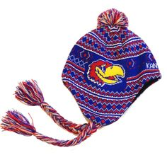 67a034a67aa1b Ski Hat - University of Kansas Stay warm and cozy in our Jayhawks Norwegian winter  hat. Knit hat with fleece lining and tassels.  24.99