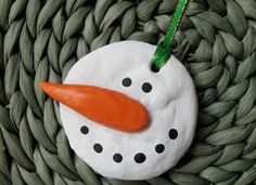 Salt Dough Snowman Ornament Craft: Christmas Crafts for Kids