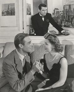 "Cary Grant, Randolph Scott and Irene Dunne in ""My Favorite Wife."""