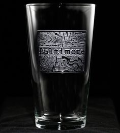 Custom City Map Pint Glasses, Set of 2   Show off your favorite brew in this gorgeous street map etched...   Pint Glasses