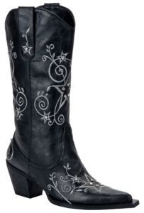 Roper® Ladies Black w/ Natural Stars & Stones Pointed Toe Western Fashion Boots