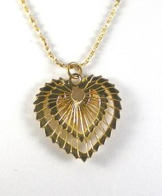 Vintage Heart Necklace Wrap Wire Pendant Valentine by paleorama, $22.00