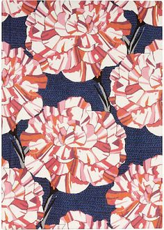 floral : red pink white blue