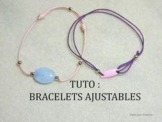 Tuto - Noeud coulissant pour faire un bracelet réglable - YouTube
